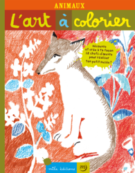 L'art à colorier : Animaux - 9782840065609 - Mila Éditions - couverture