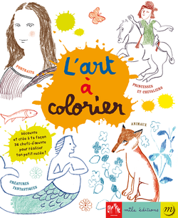 L'art à colorier : la compilation - 9782840067641 - Mila Éditions - couverture