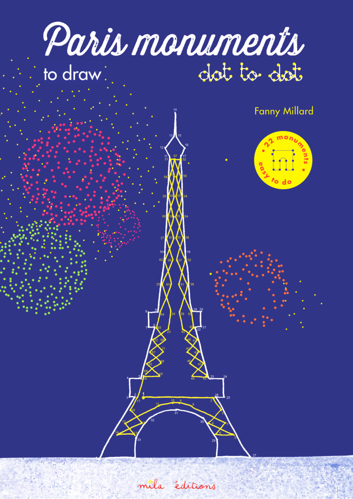 The Paris monuments to draw dot to dot - 9782840068723 - Mila Éditions - couverture